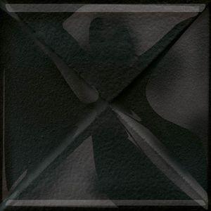 Cersanit Textile Flower Glass Black Inserto New Dekorcsempe  9.9x9.9