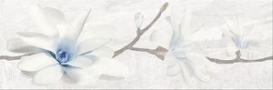Cersanit Stone Flowers Grey Inserto dekorcsempe 25x75