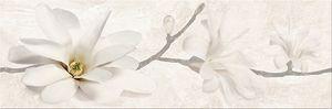 Cersanit Stone Flowers Beige Inserto dekorcsempe 25x75
