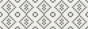 Cersanit Pret-À-Porter Black&White Mosaic dekorcsempe 25x75
