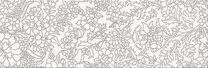 Cersanit Pret-À-Porter White Inserto Flower dekorcsempe 25x75