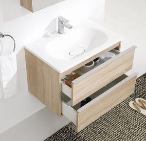 Kuma Annemarie Komplett fürdőszoba bútor Oak mdf 75 cm.