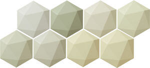 Arte Origami Green Hex falicsempe 11x12,5